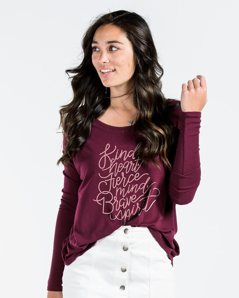Kind Heart Maroon Flowy Long Sleeve