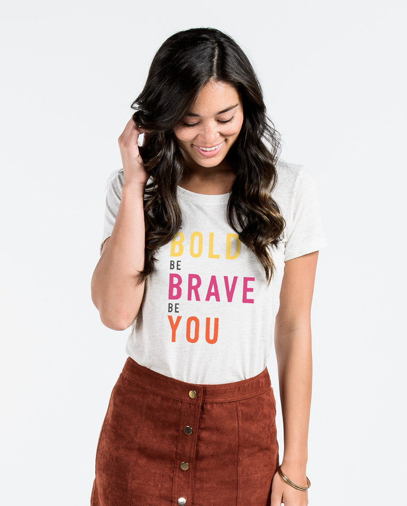 Be Bold Oatmeal Triblend Short Sleeve Tee