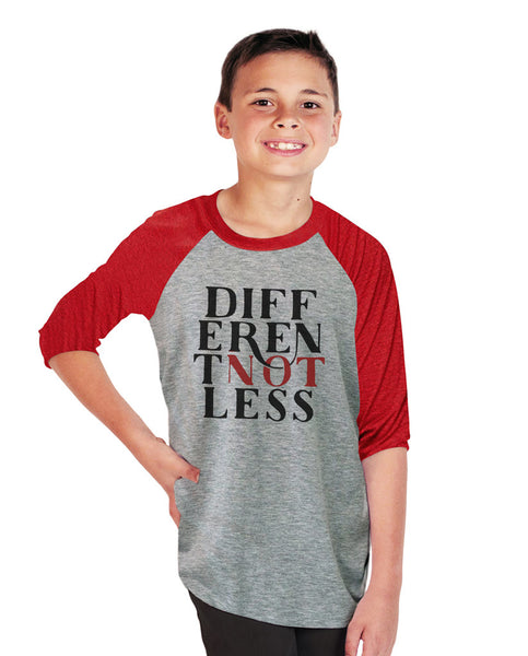 Different Not Less Youth Vintage Baseball T Shirt