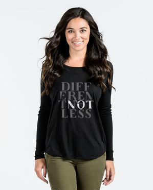 Different Not Less Black Flowy Long Sleeve