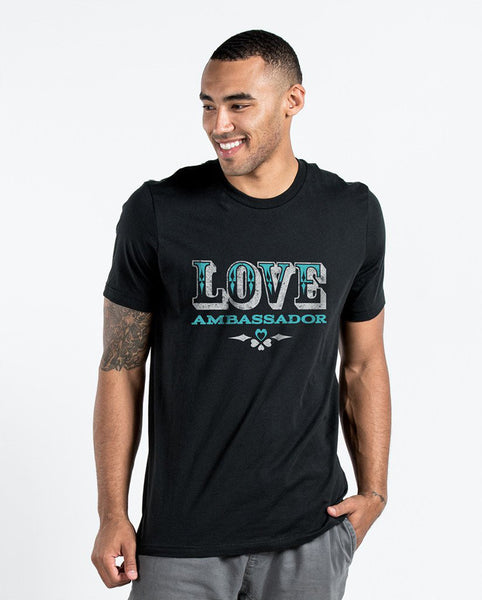 Love Ambassador Black Premium Fitted Tee