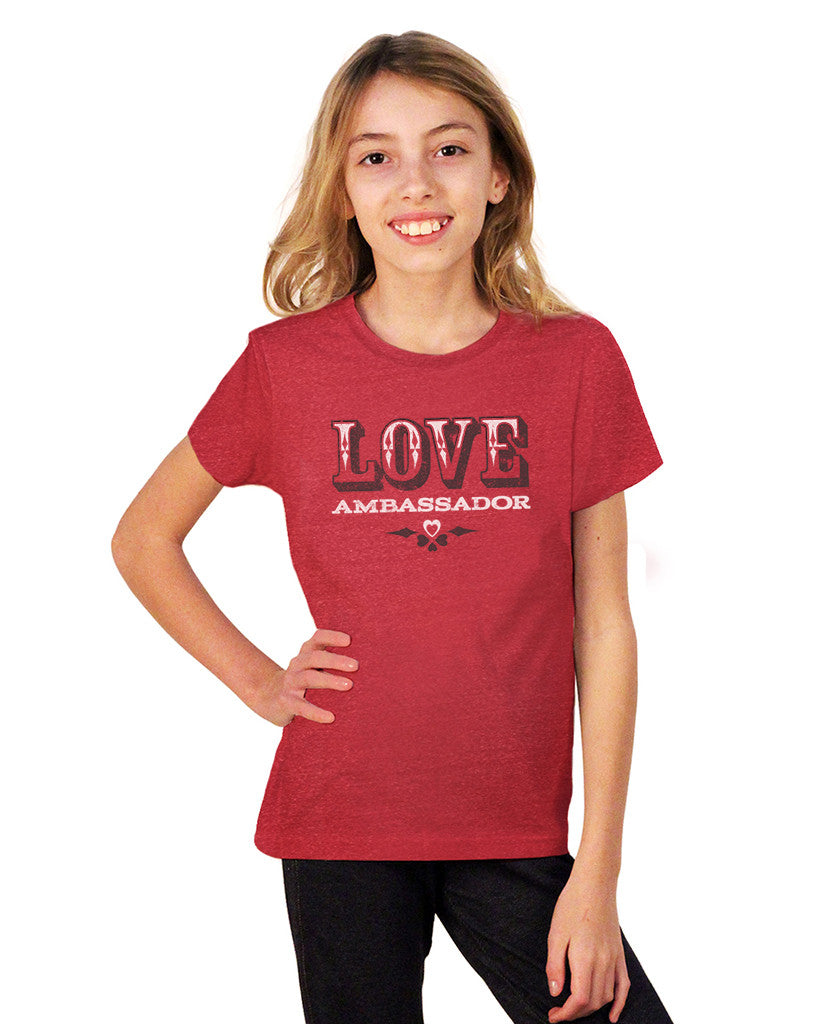 Love Ambassador Youth Red Short Sleeve Tee