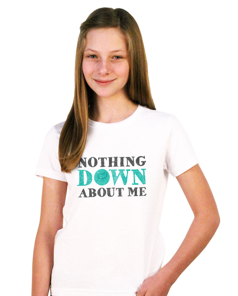 Nothing Down About Me Youth White Short Sleeve Tee