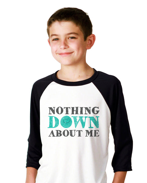 Nothing Down About Me Youth Vintage Baseball T Shirt