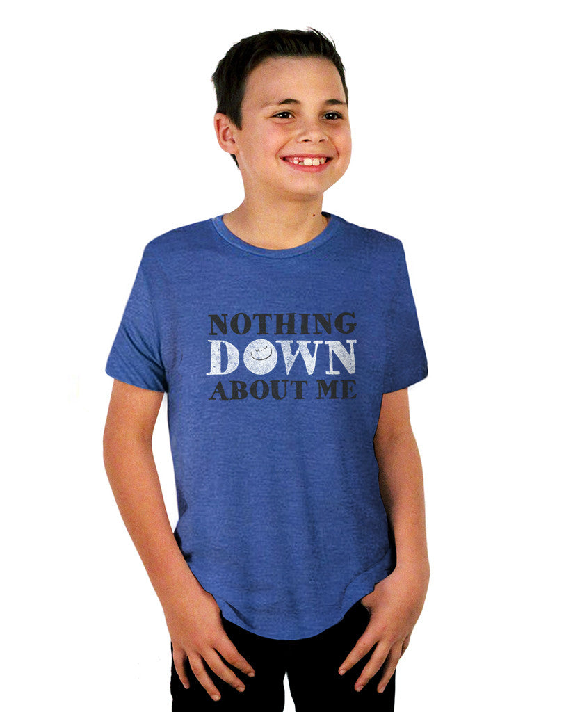 Nothing Down About Me Blue Triblend Short Sleeve Tee