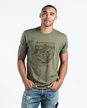 Grand Canyon Green Premium Fitted Tee