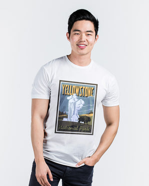Yellowstone White Premium Fitted Tee