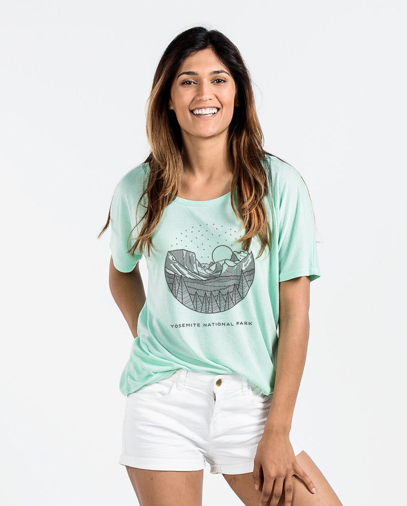 Yosemite Womens Mint Slouchy Tee