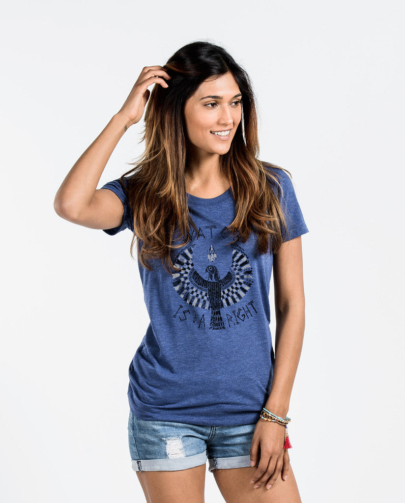 Water Is A Right Womens Navy Triblend Short Sleeve Tee