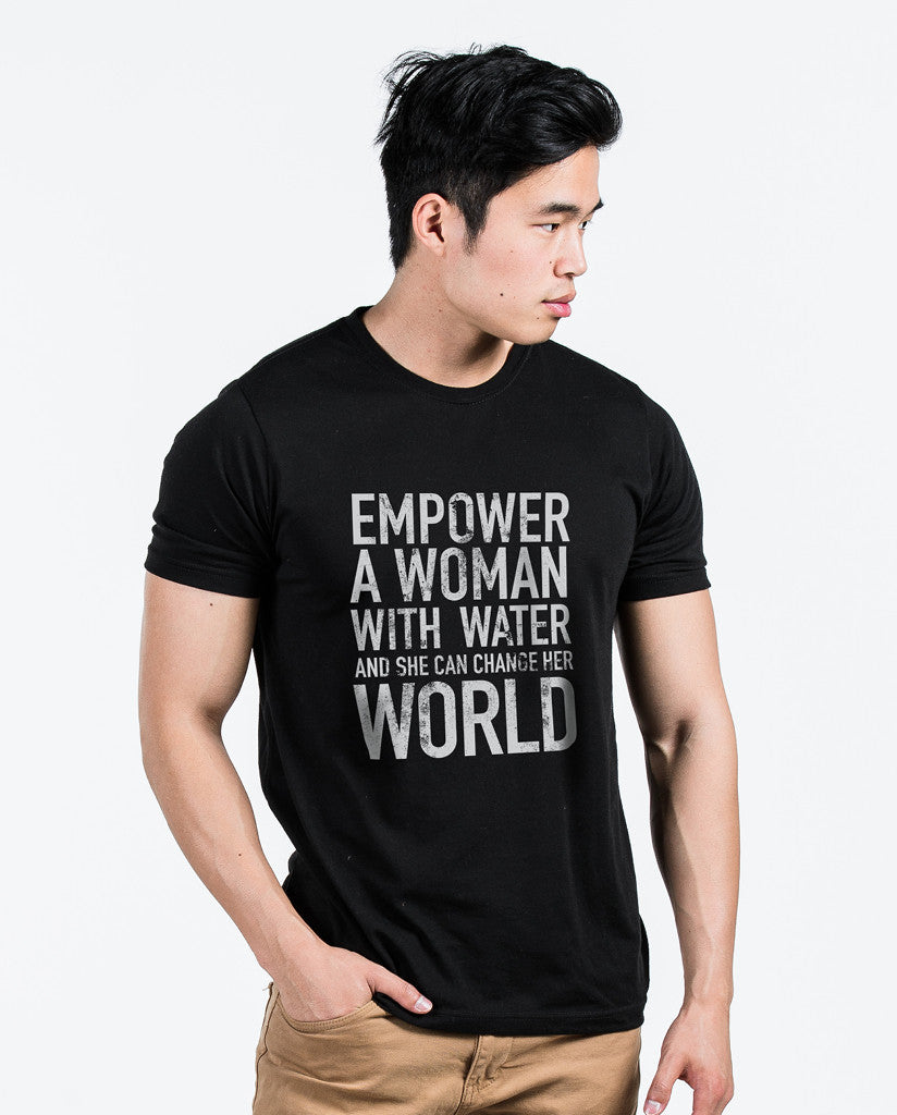 Empower Mens Black Premium Fitted Tee
