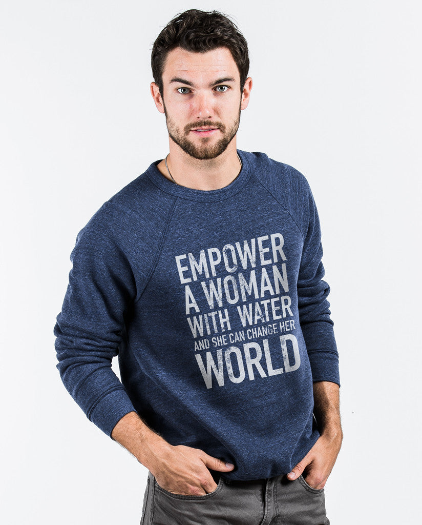 Empower Unisex Blue Crew Neck Sweatshirt
