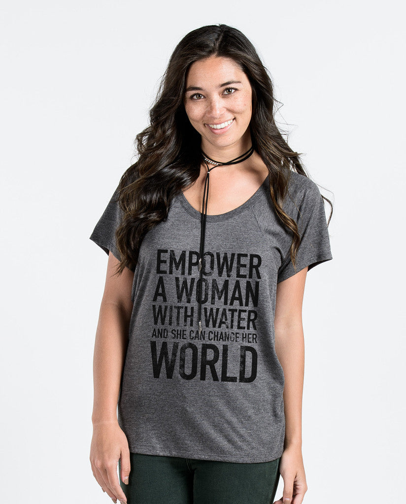 Empower Womens Black Flowy Raglan
