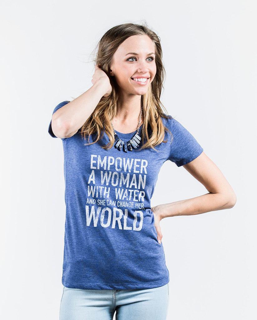 Empower Womens Navy Triblend Short Sleeve Tee