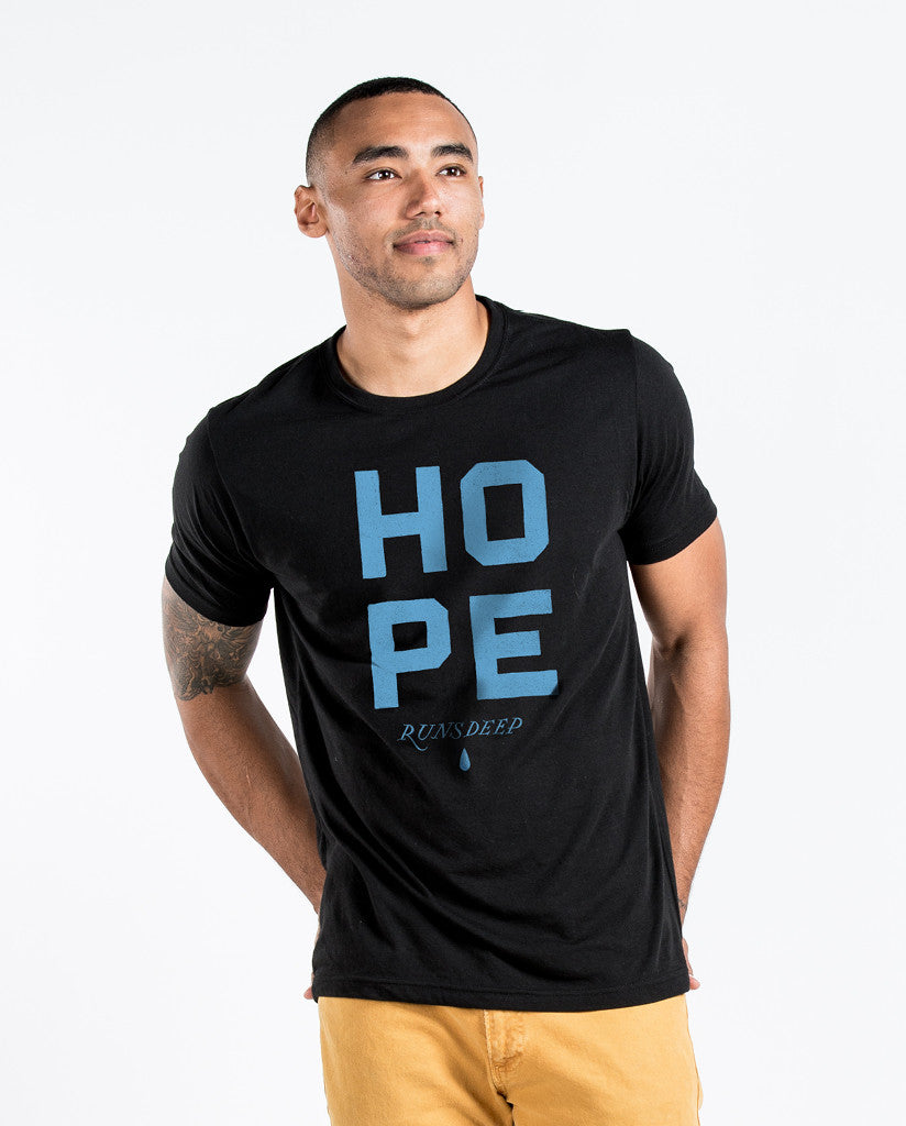 Hope Runs Deep Mens Black Premium Fitted Tee