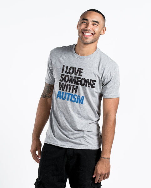 I Love Someone With Autism Unisex Triblend Short Sleeve Tee