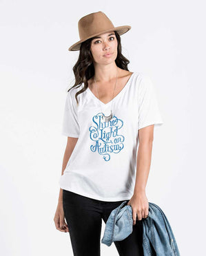 Shine A Light Womens Flowy V-Neck