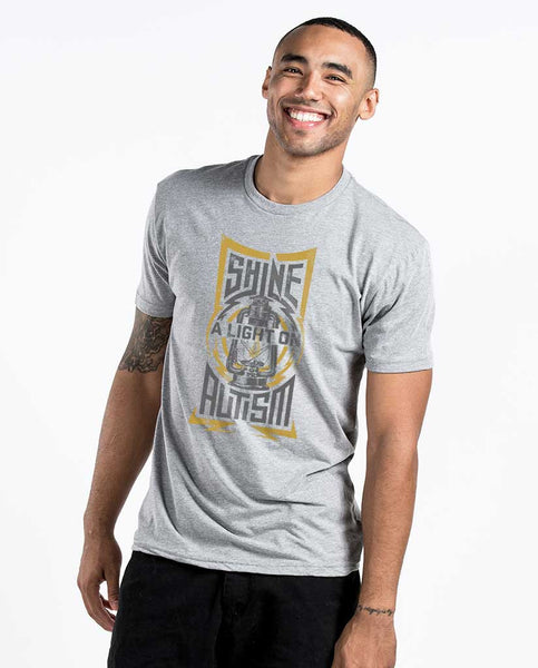 Shine A Light Unisex Grey Triblend Short Sleeve Tee