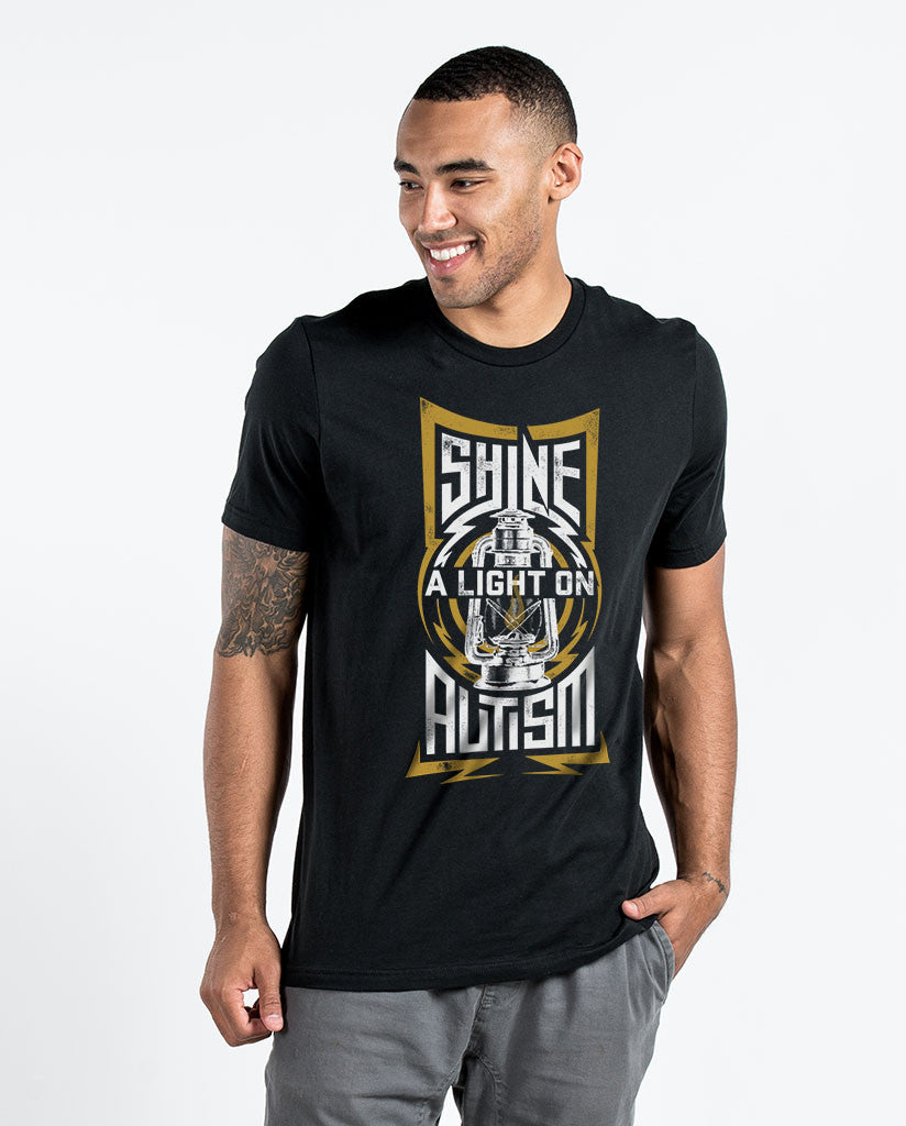 Shine A Light Mens Black Premium Fitted Tee