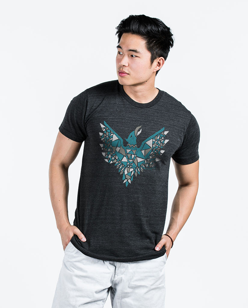 Phoenix Mens Charcoal Premium Fitted Tee