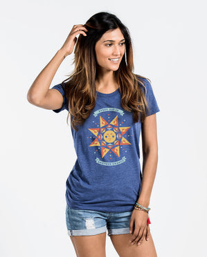 Every Day Is Another Chance Womens Blue Triblend Short Sleeve Tee