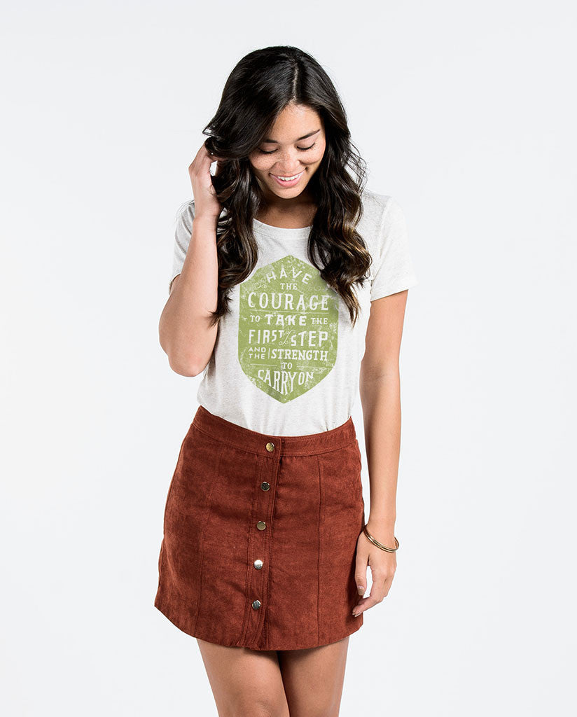 Have The Courage Womens Triblend Short Sleeve Tee