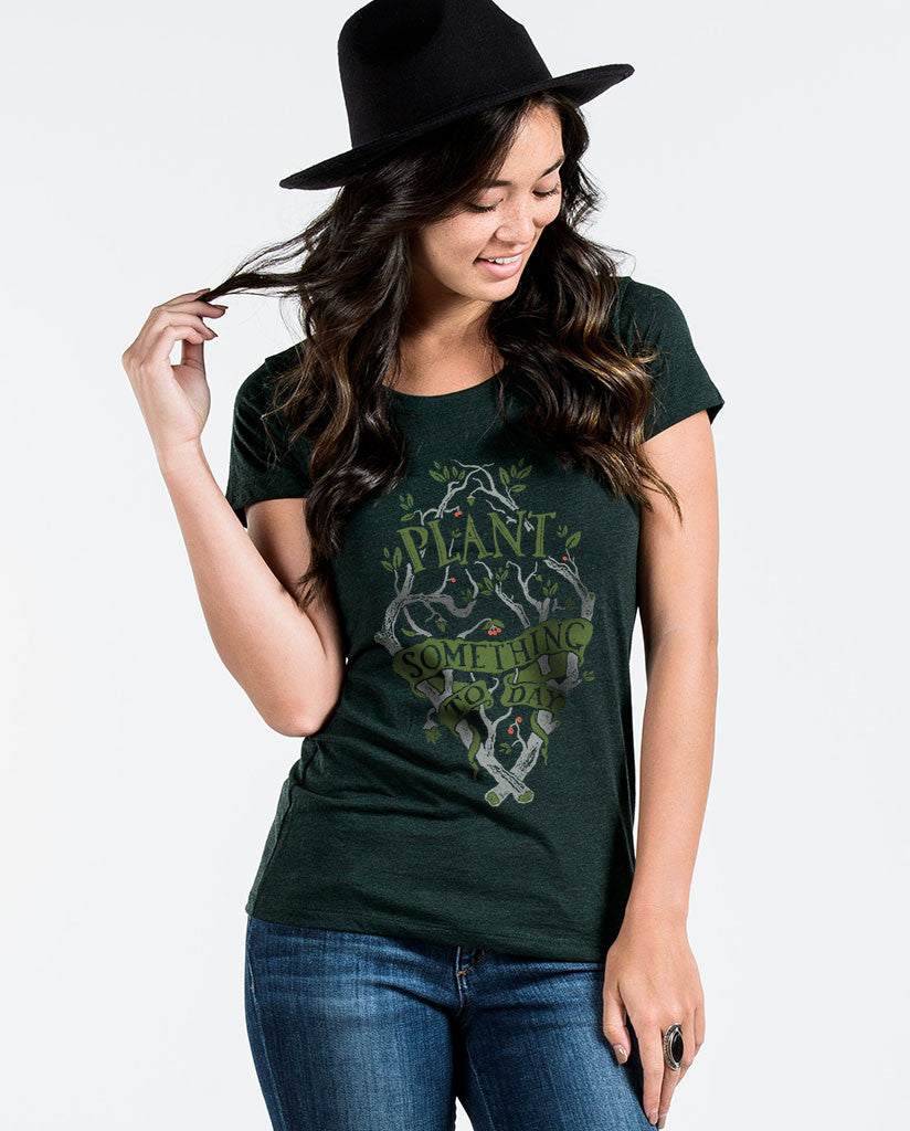 Plant Something Today Womens Triblend Short Sleeve Tee