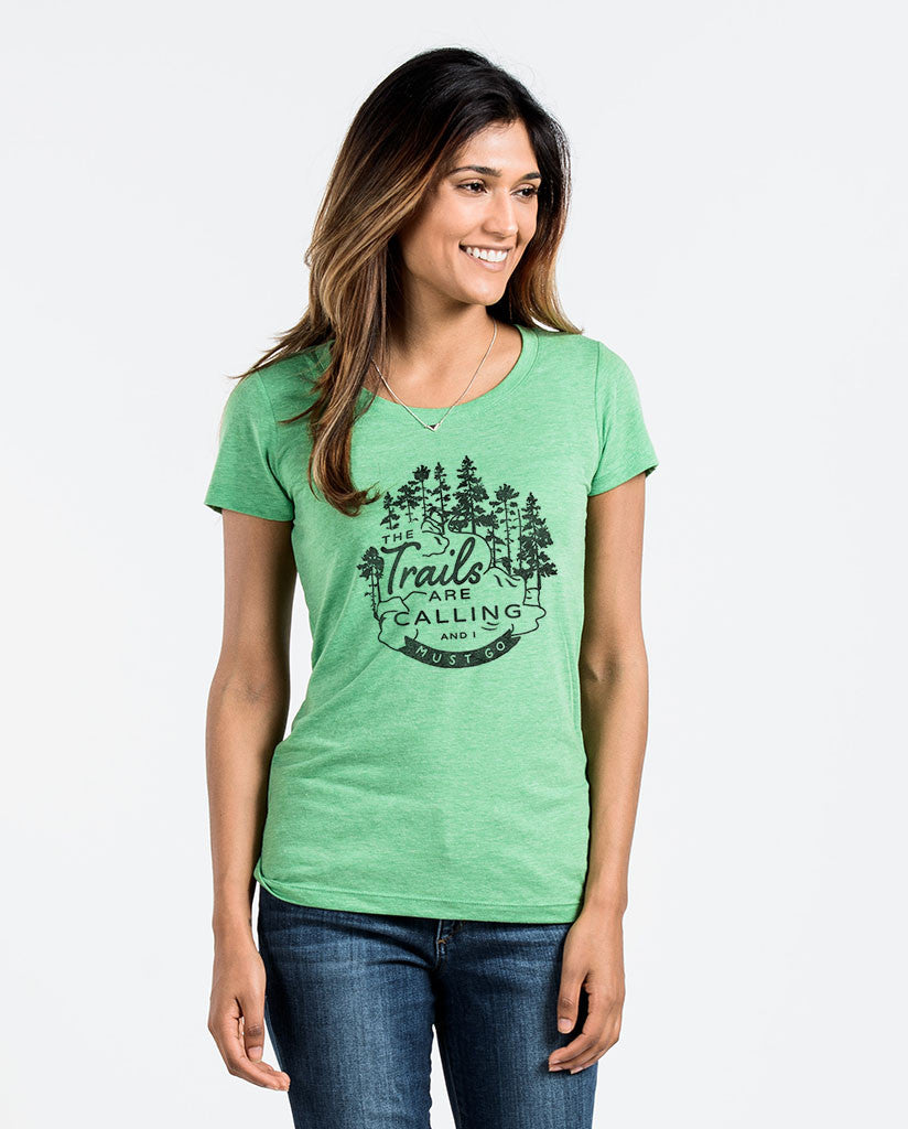Trails Are Calling Unisex Triblend Short Sleeve Tee