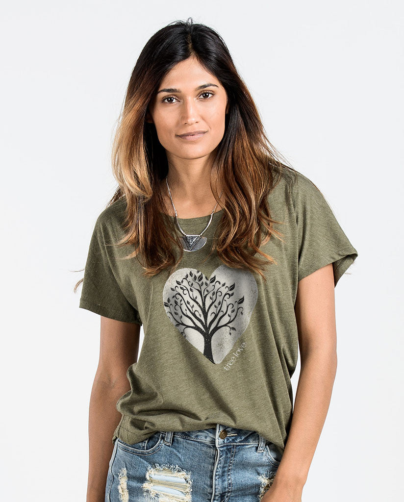 Tree Love Womens Flowy Dolman