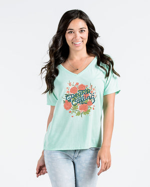 Greater Calling Womens Flowy V-Neck