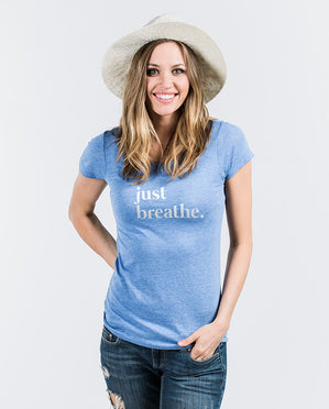 Just Breathe Womens Triblend Short Sleeve Tee