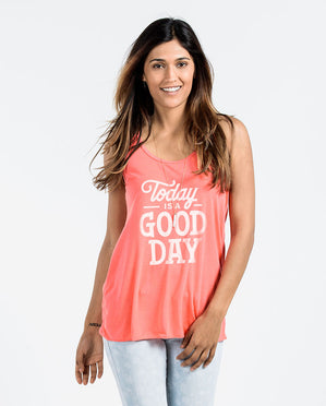 Today Is A Good Day Womens Flowy Racerback Tank