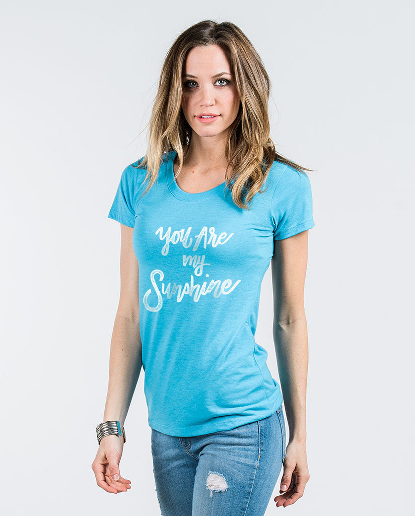 You Are My Sunshine Womens Triblend Short Sleeve Tee