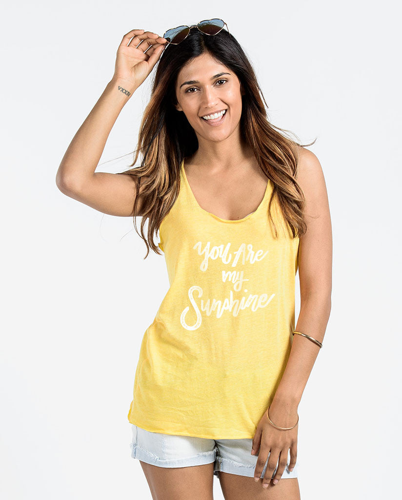 You Are My Sunshine Womens Racerback Tank