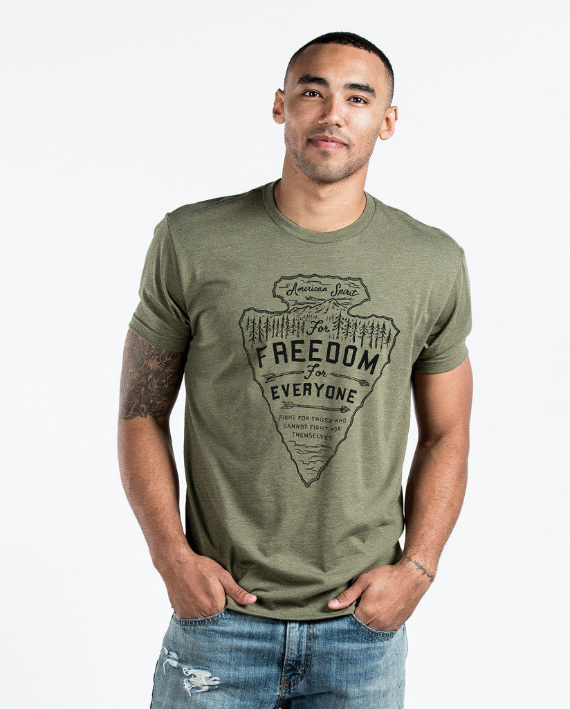 Freedom For Everyone Mens Premium Fitted Tee