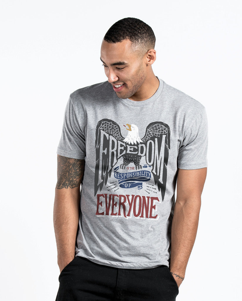 Freedom Is The Responsibility Of Everyone Unisex Triblend Short Sleeve Tee