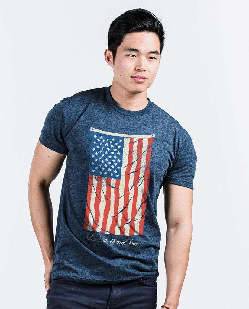 Vintage Flag Mens Premium Fitted Tee