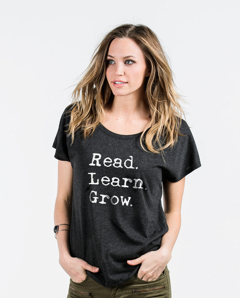 Read. Learn. Grow. Womens Flowy Dolman