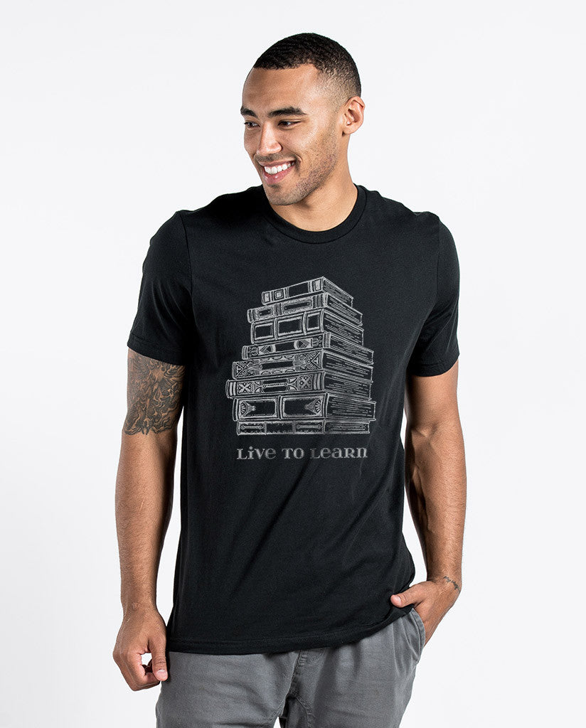 Live To Learn Mens Premium Fitted Tee