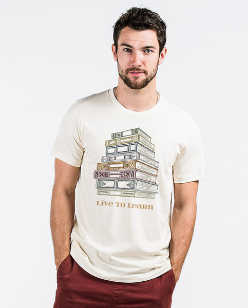 Live To Learn Mens Fitted Tee