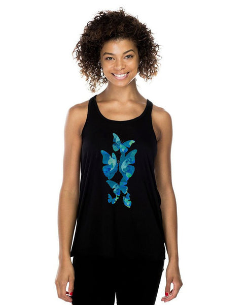 THE BUTTERFLY EFFECT Womens Racerback Tank