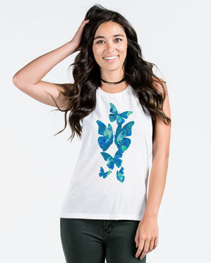 THE BUTTERFLY EFFECT Womens Muscle Tank
