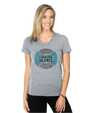 CHANGING SILENCE Womens Triblend Short Sleeve Tee