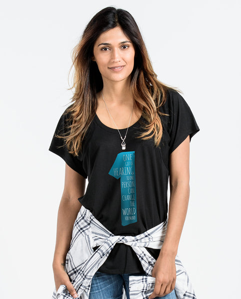 ONE GIFT Womens Flowy Raglan