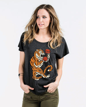 Fighting Tiger Womens Flowy Dolman