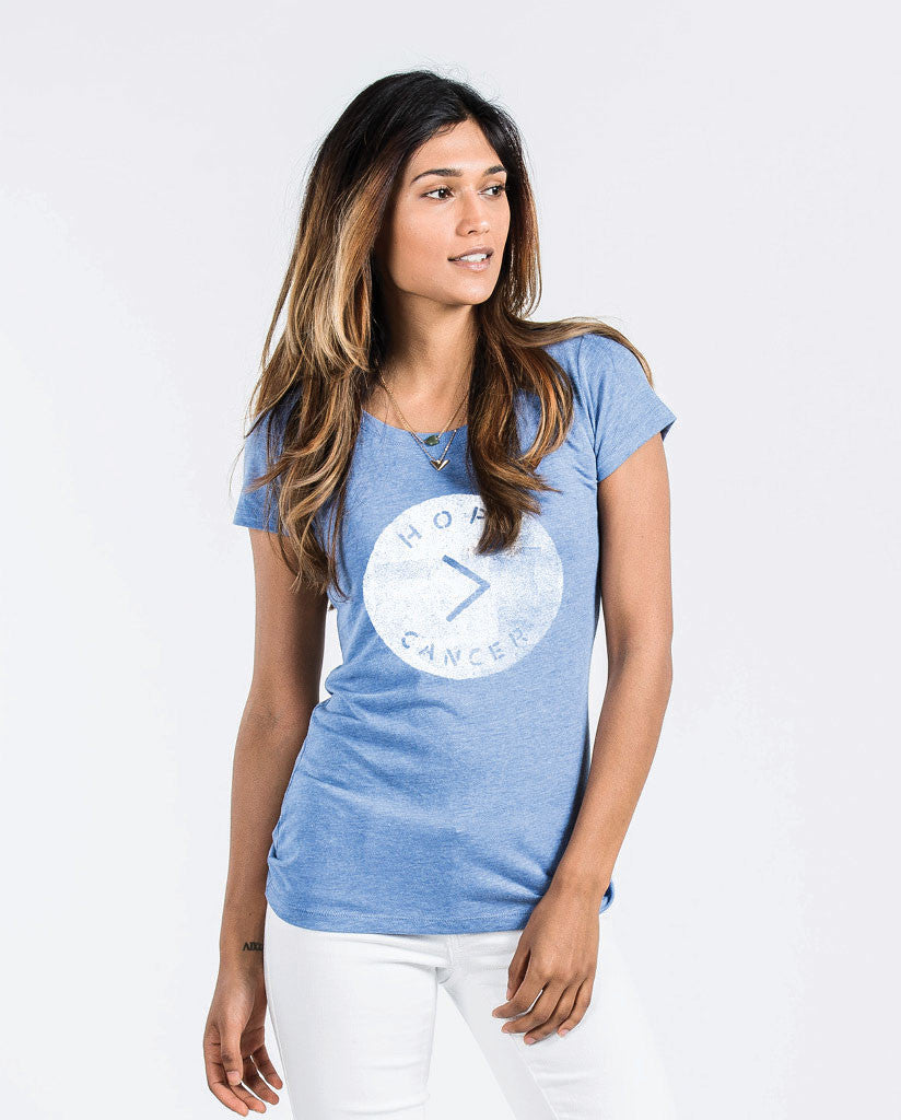Hope > Cancer Womens Triblend Short Sleeve Tee
