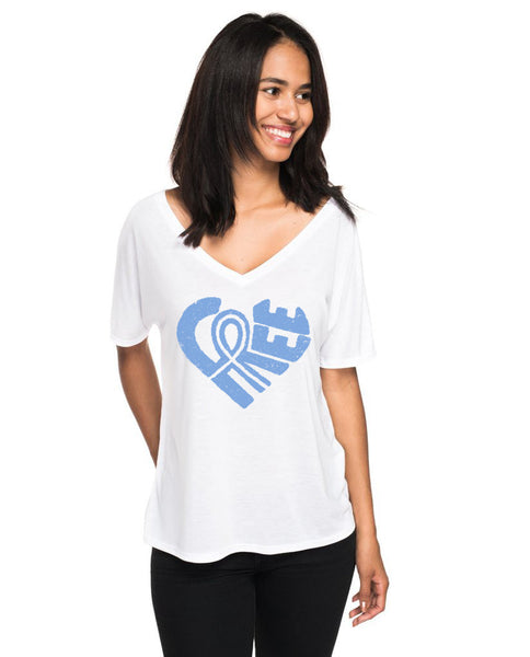 Free Heart Womens Flowy V-Neck