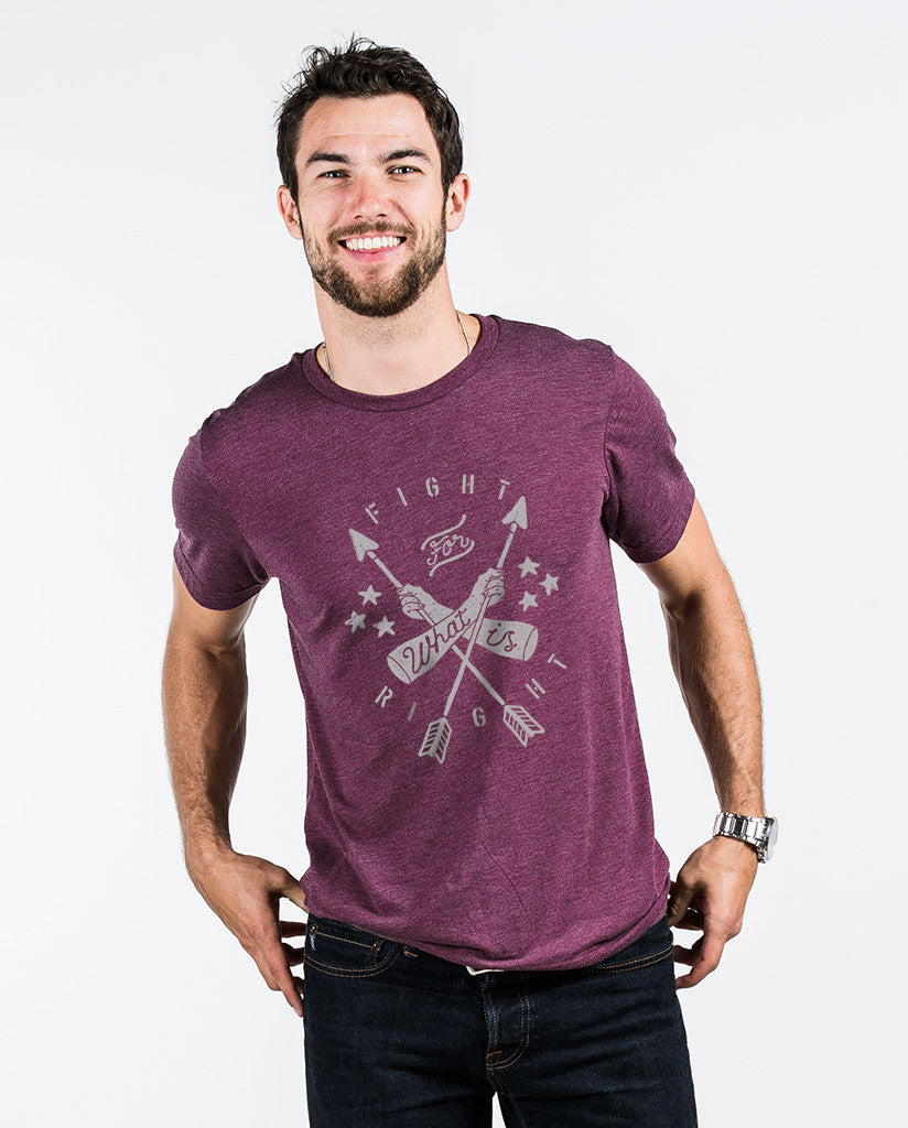 Fight For What Is Right Unisex Maroon Triblend Short Sleeve Tee