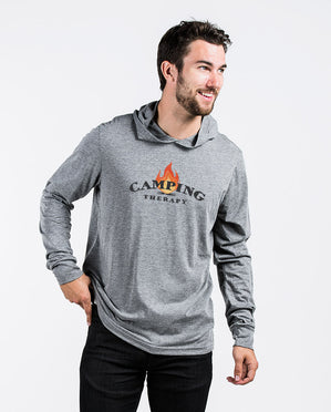 Camping Therapy Unisex Long Sleeve Hoodie