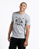 Crossed Arrows Unisex Triblend Short Sleeve Tee