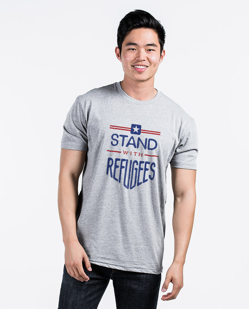 Stand With Refugees Unisex Triblend Short Sleeve Tee